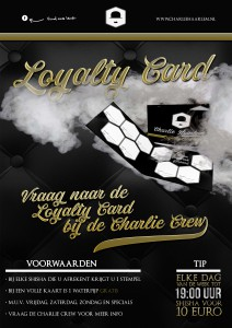 CHARLIE HAARLEM WC POSTER LOYALTY CARD